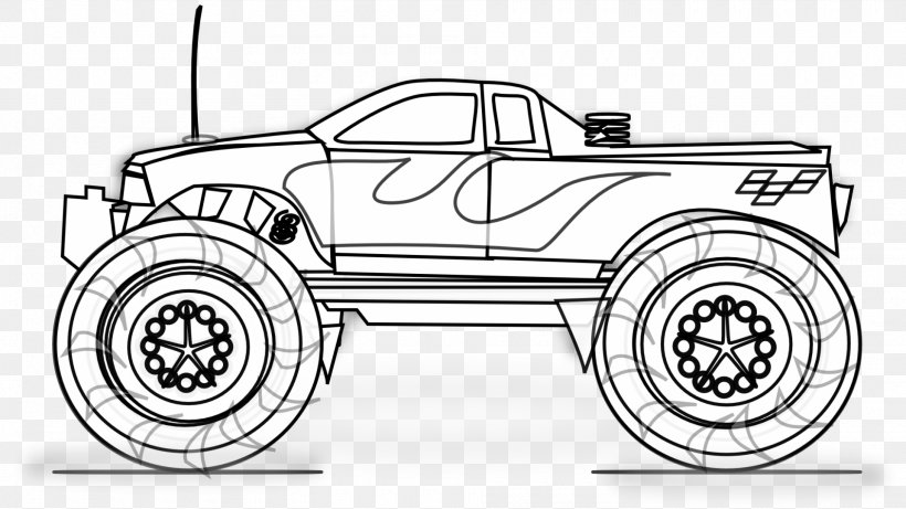 pickup truck colouring pages coloring book monster truck