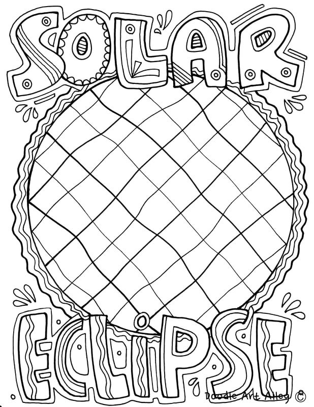 picture solar eclipse solar system coloring pages