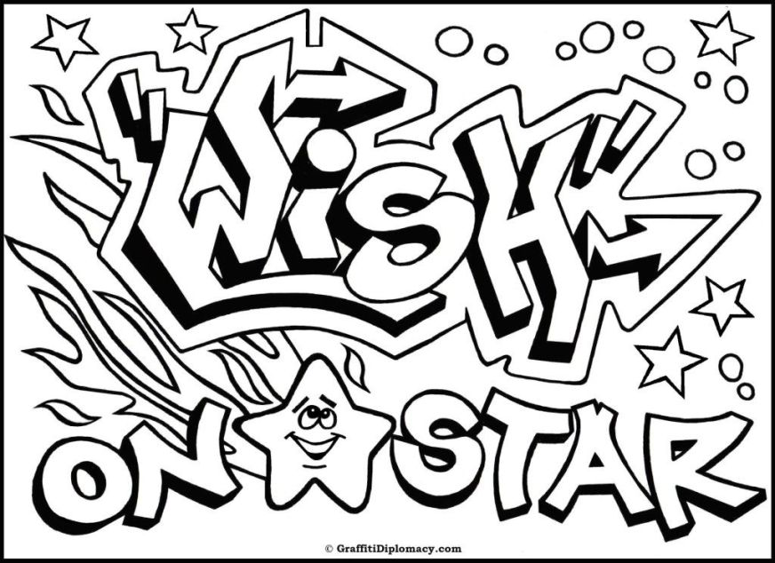 pin graffiti coloring pages names pelautscom schablonen