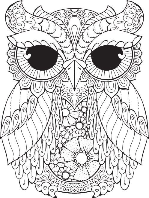 pin ilona dolealov on soviky owl coloring pages