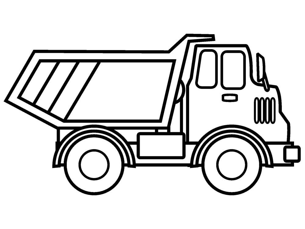 Coloring Pages Trucks Gallery - Whitesbelfast