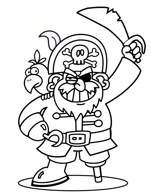 pirate coloring pages and crafts piraten ausmalbilder