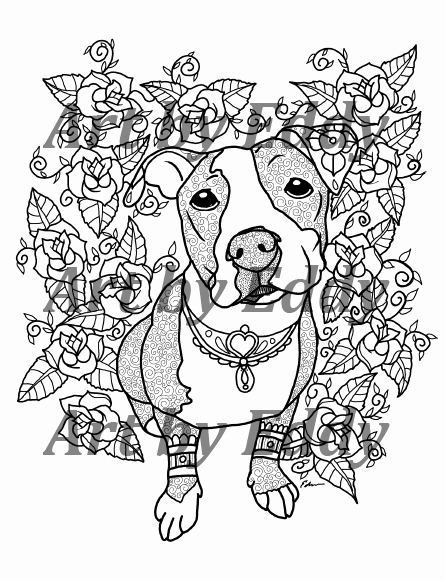 pit bull coloring book awesome coloring pages pitbulls
