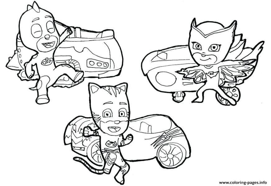 pj masks car coloring pages