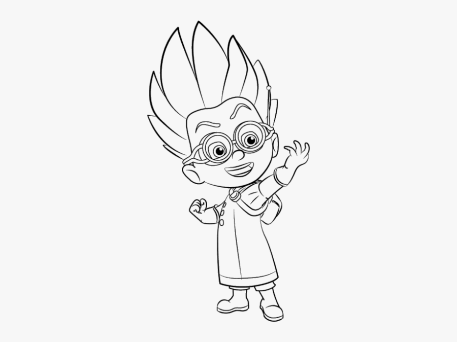 pj masks coloring pages pj mask coloring pa transparent