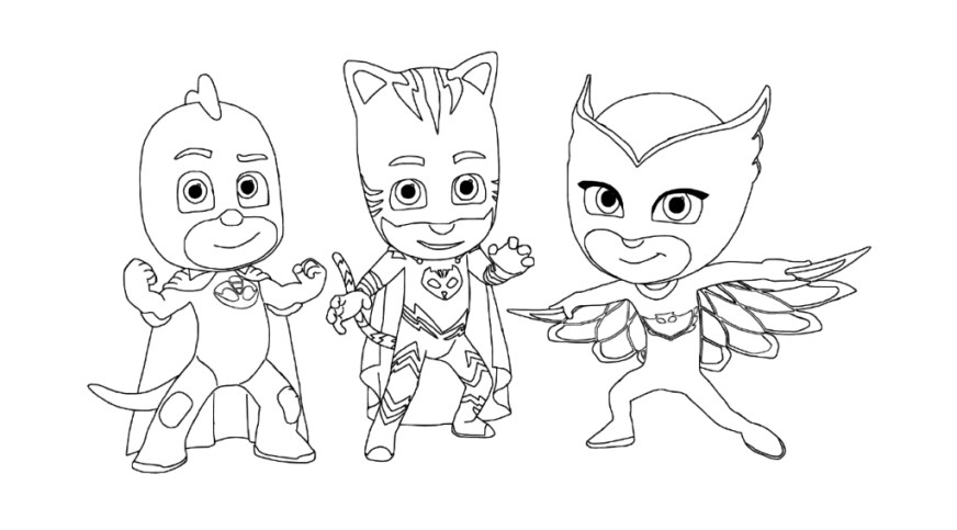 pj masks coloring pages to print printable fun for kids