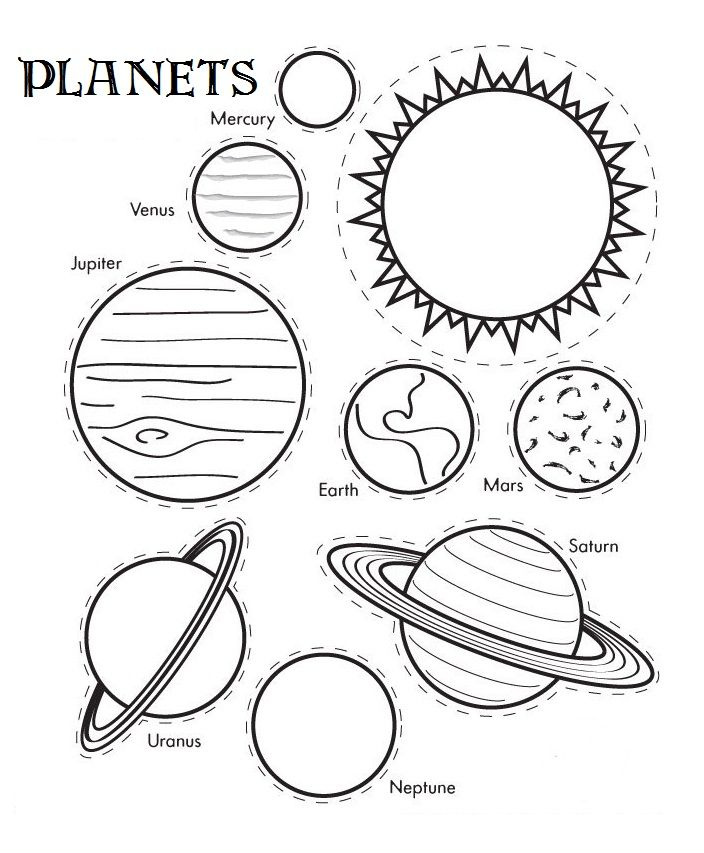 planets colouring page printable 01 sonnensystem