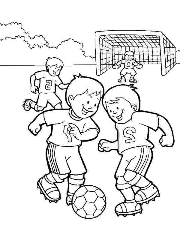 playing soccer coloring pages huangfei