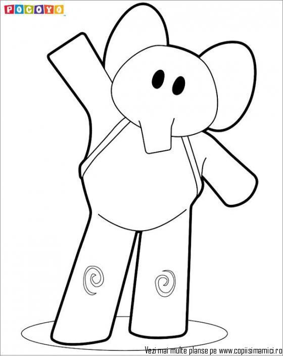 pocoyo 980 kizi free coloring pages for children