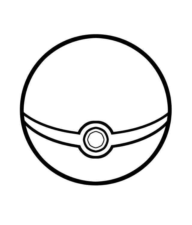 poke ball line art falco4077 on deviantart 120574