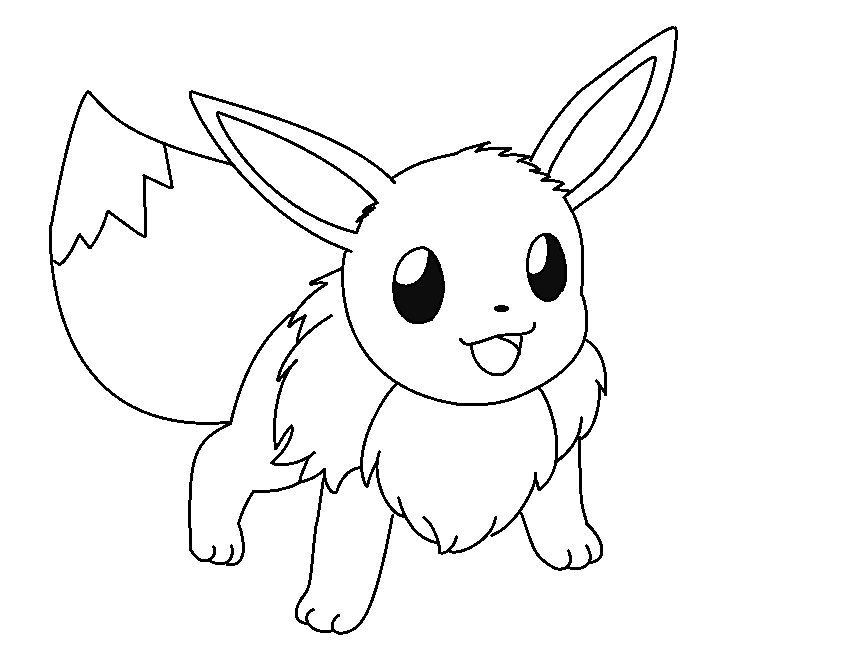 pokemon coloring pages eevee coloring pages for kids