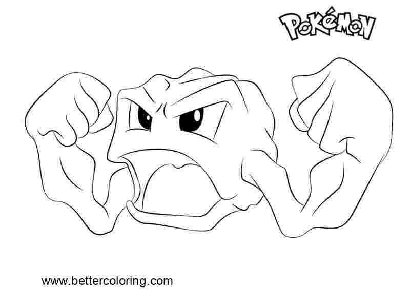 pokemon coloring pages geodude geodude pokemon coloring page