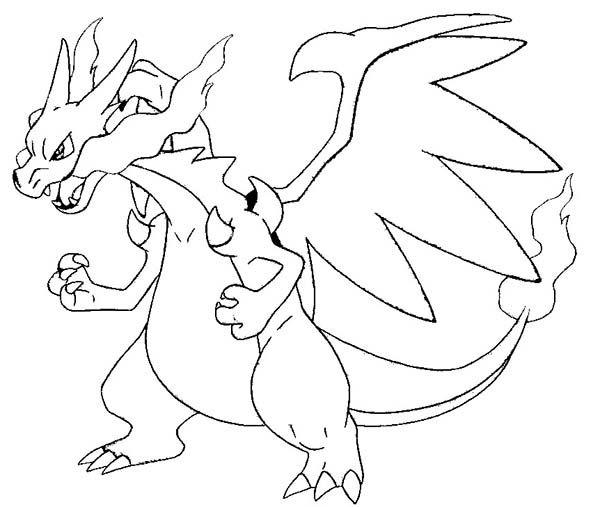pokemon coloring pages mega charizard pokemon malvorlagen