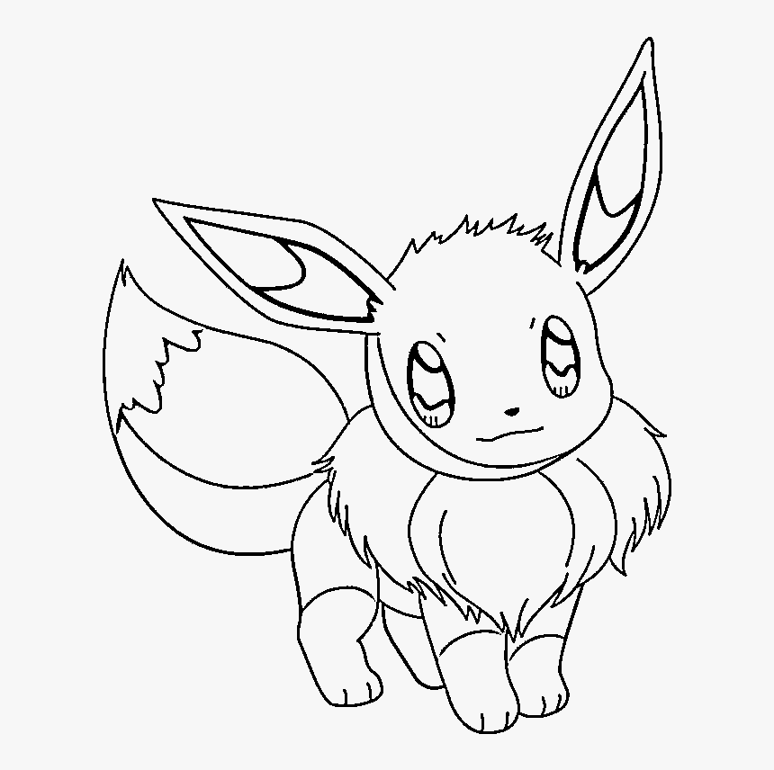 pokemon eevee coloring pages cute pokemon black and white