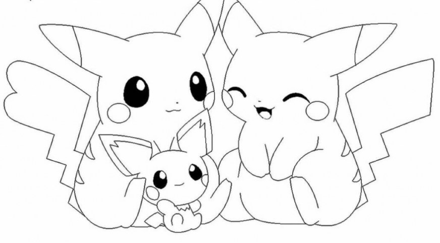 pokemon pictures coloring pages at getdrawings free