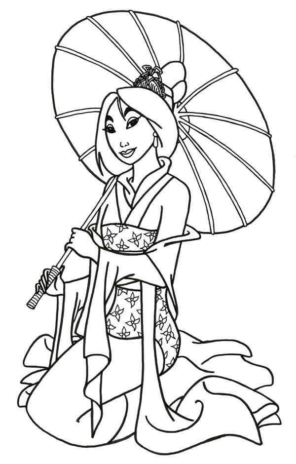 posing of princess mulan coloring pages princess coloring