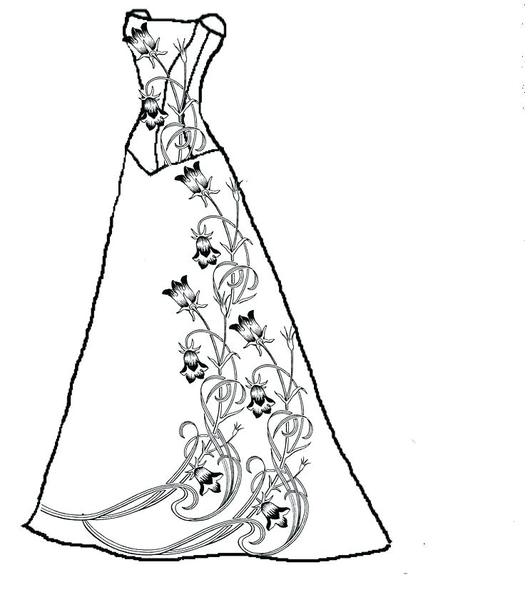 pretty dresses coloring pages at getdrawings free for