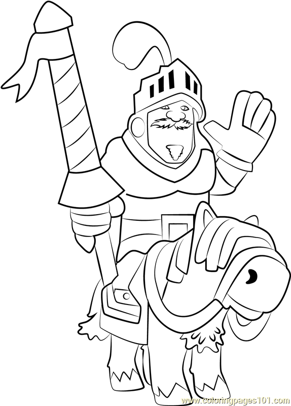 prince coloring page free clash royale coloring pages