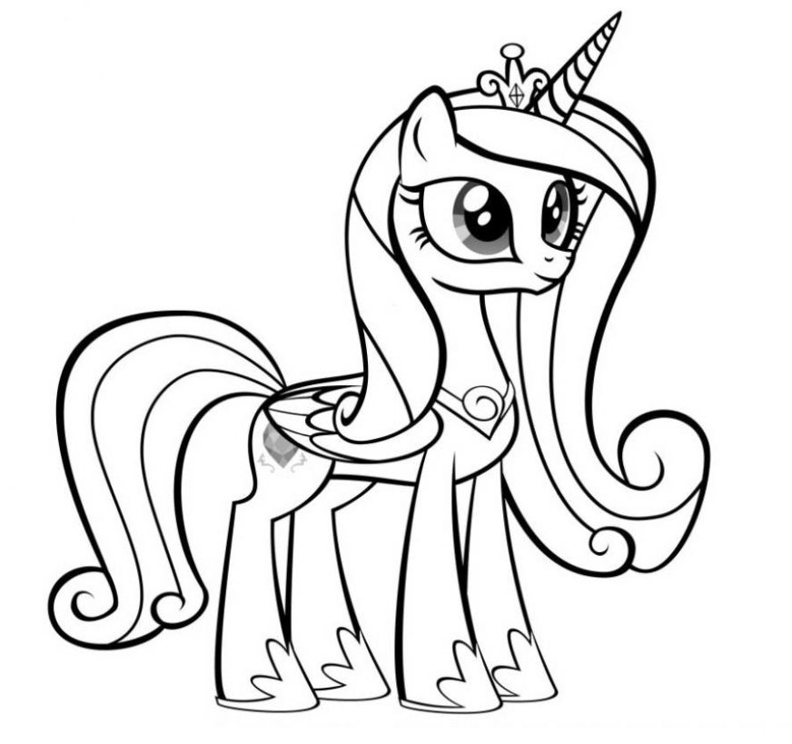 princess cadence of my little pony coloring pages my