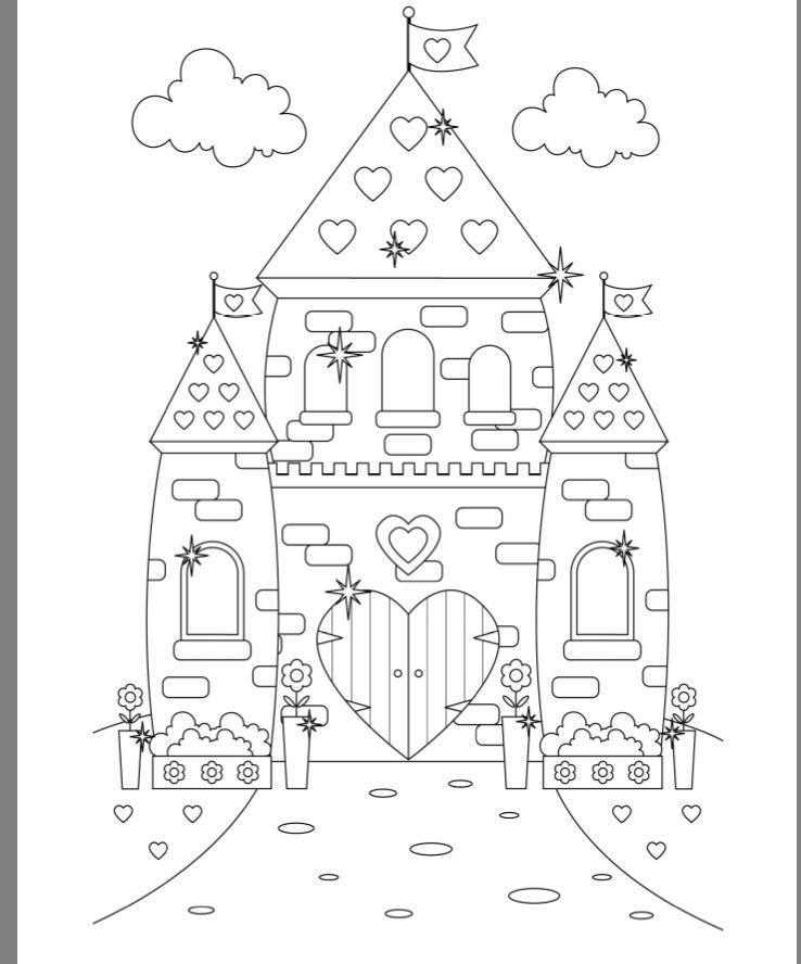 princess castle colouring page ausmalbilder malvorlagen