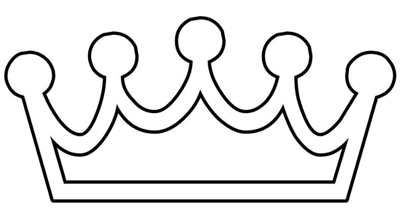 princess crown printable coloring pages crown clip art
