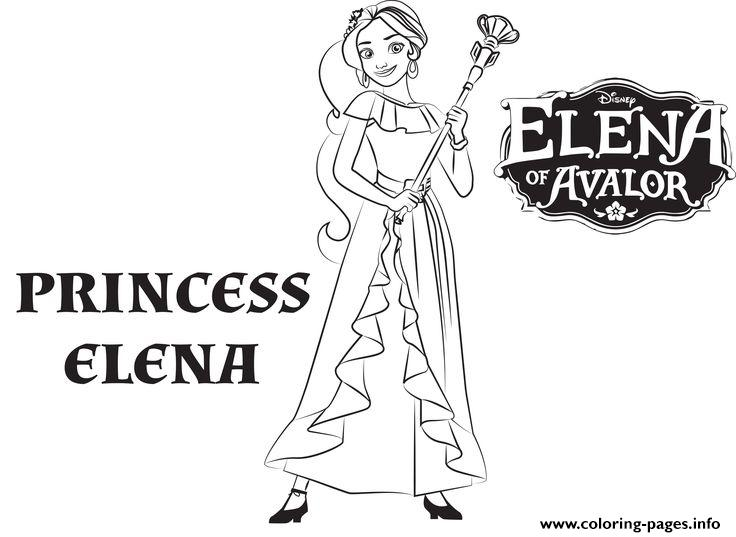 princess elena of avalor de disney coloring pages printable