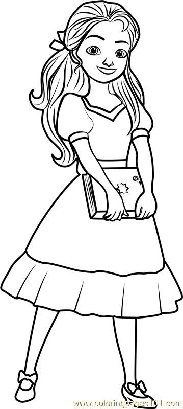 princess isabel coloring page free elena of avalor