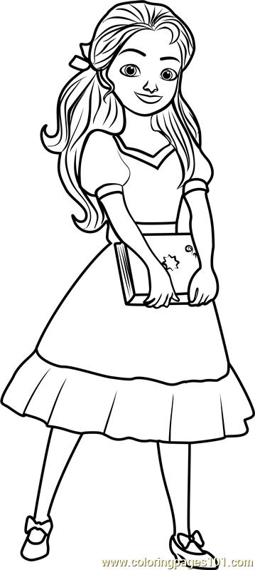 princess isabel coloring page free elena of avalor