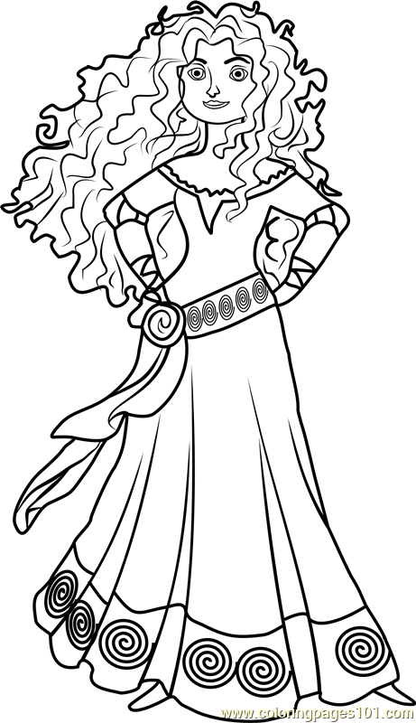 princess merida coloring page free disney princesses
