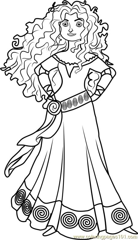 princess merida coloring page free disney princesses