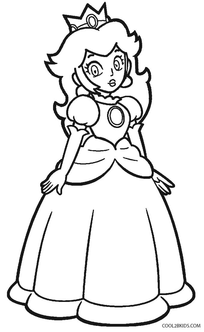 princess peach coloring pages printable princess peach