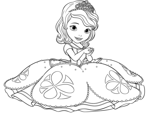 princess sofia coloring page free printable coloring pages