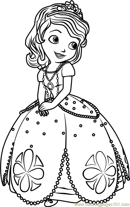 princess sofia coloring page free sofia the first coloring