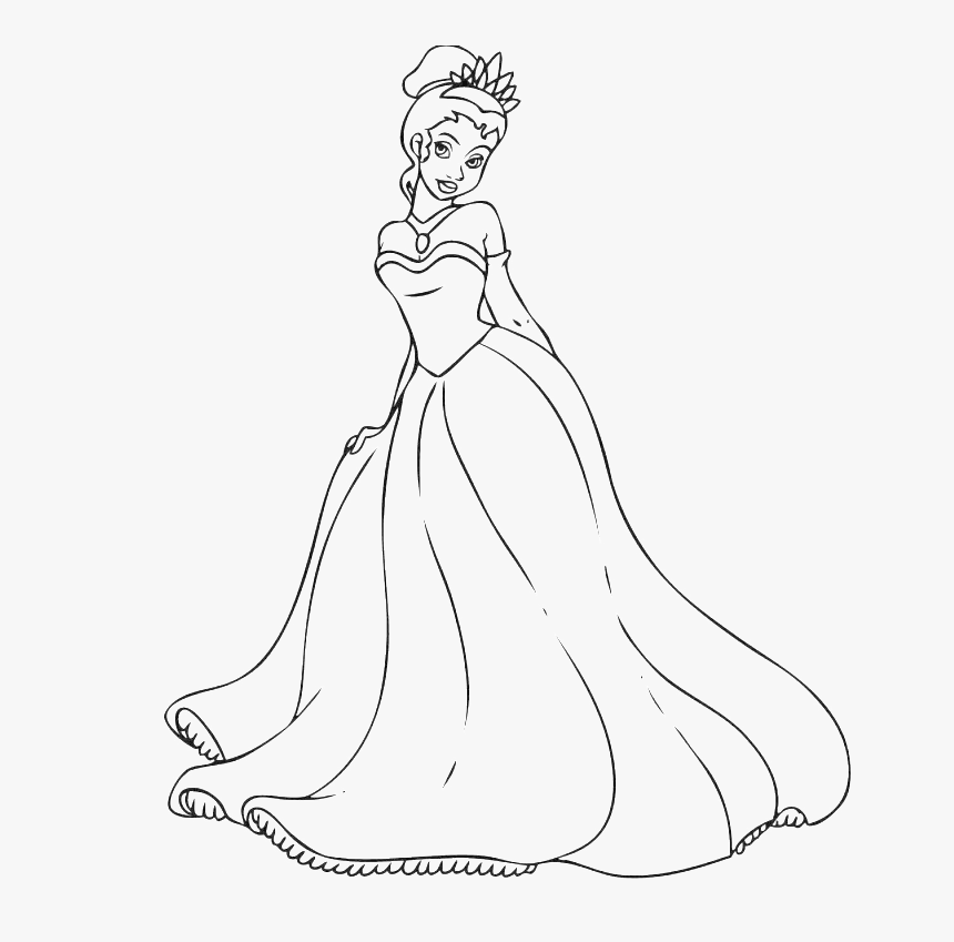 princess tiana coloring pages easy drawing of princess hd