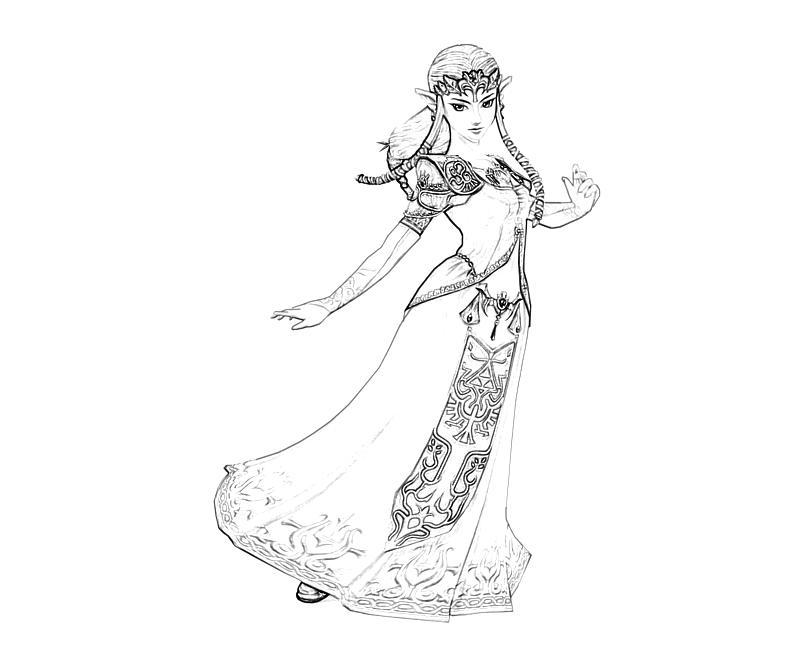 princess zelda coloring pages kaigobank
