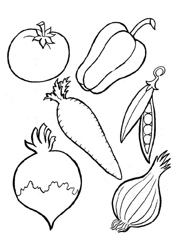 print coloring image vegetable coloring pages vegetable