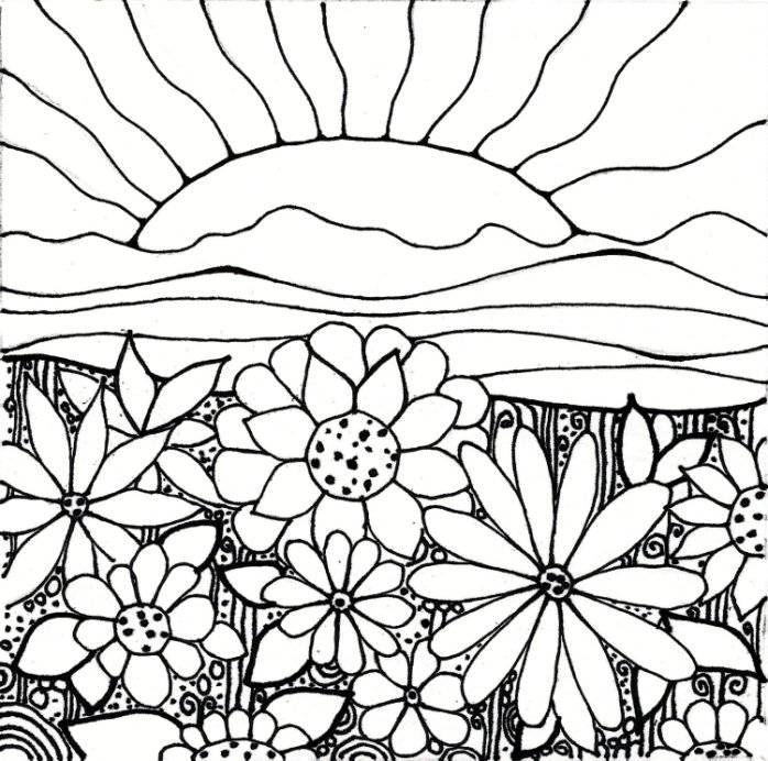 print flower garden coloring pages printable or download