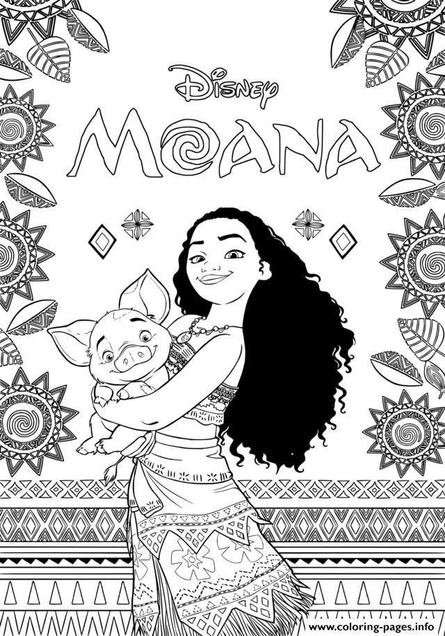 print moana disney coloring pages ausmalbilder