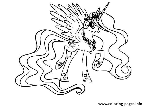 print my little pony cool princess celestia coloring pages