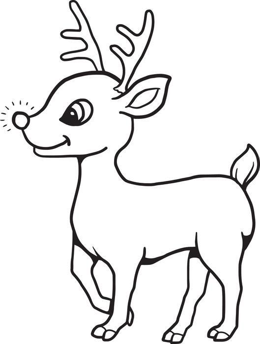 printable ba reindeer christmas coloring page for kids