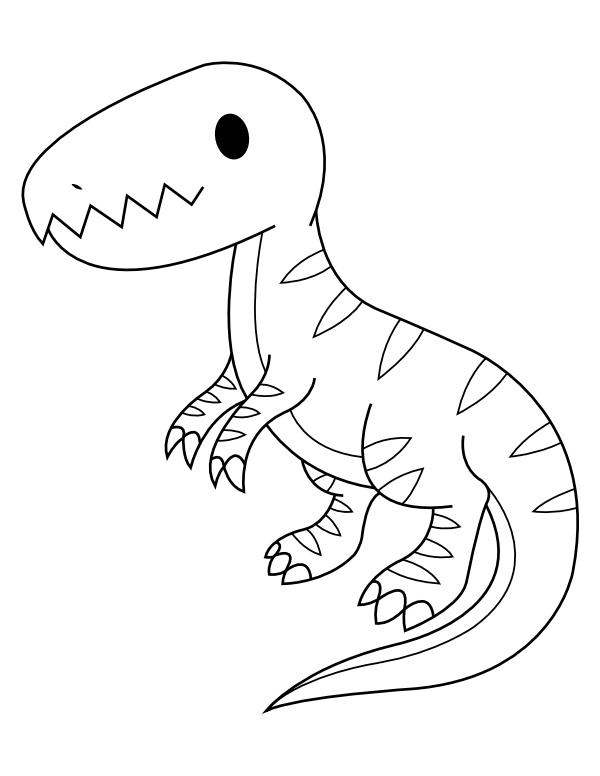 printable ba tyrannosaurus rex coloring page