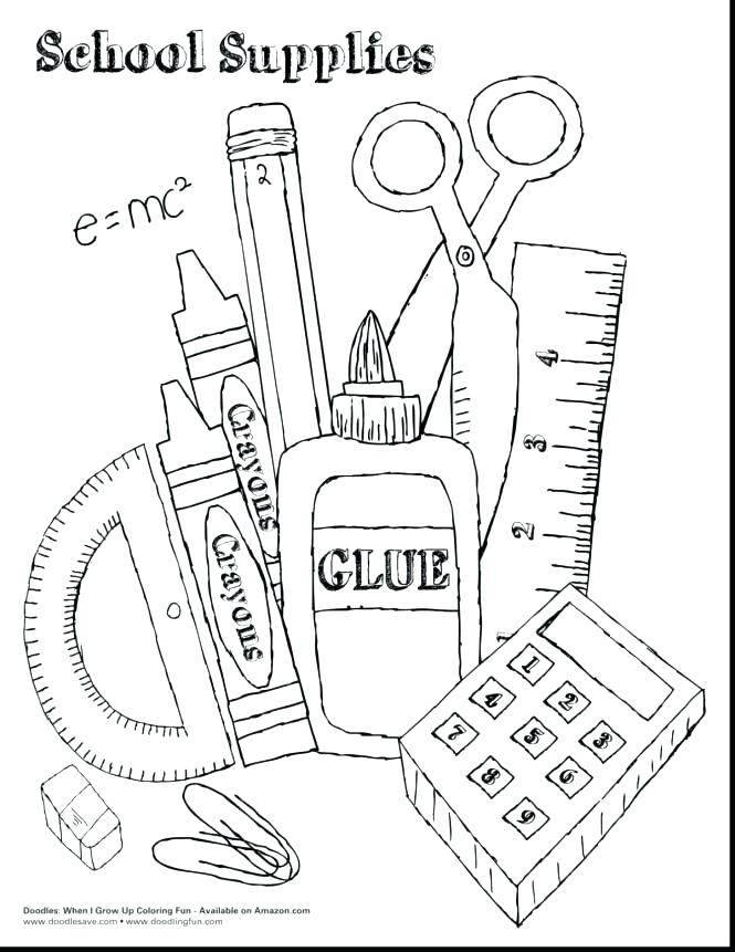 printable back to school coloring pages at getdrawings