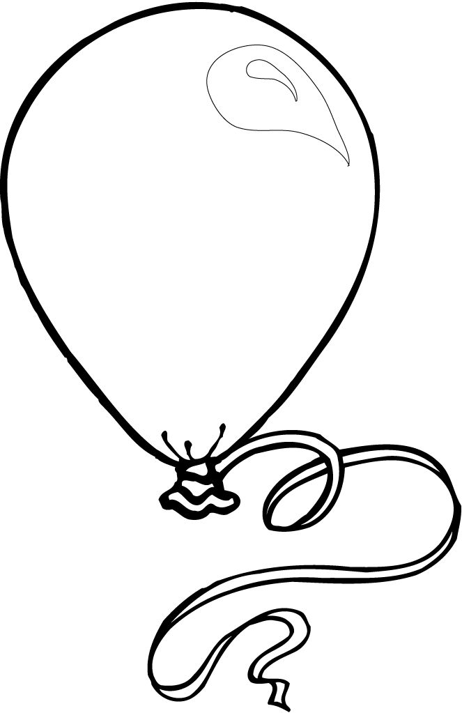 printable balloon coloring pages kids crafts birthday