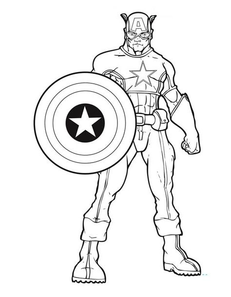 printable captain america coloring pages superhelden