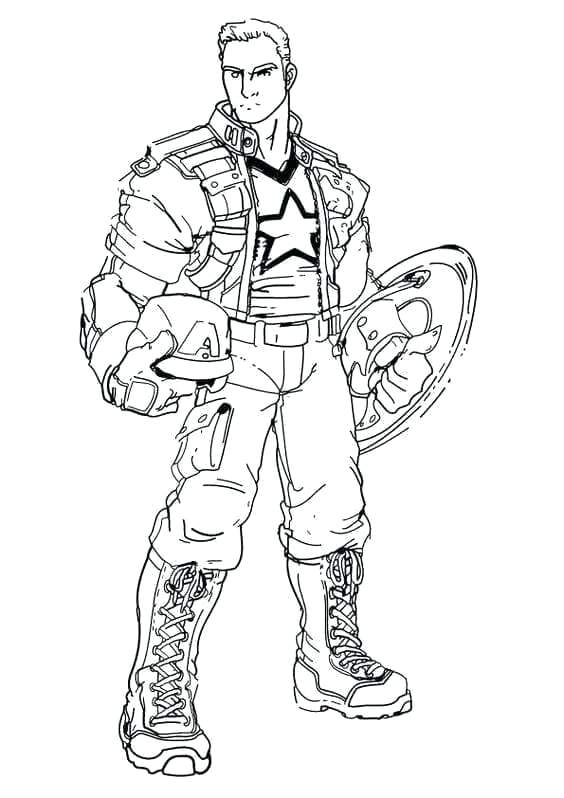 printable captain coloring pages for kids america page