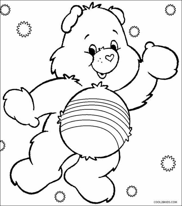 printable care bear coloring page cool photos printable care
