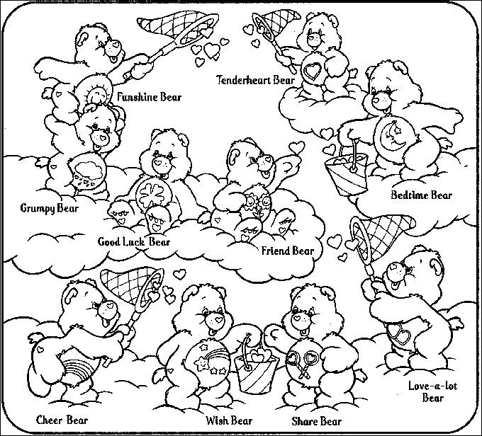 printable care bear coloring page unique photos 299 best