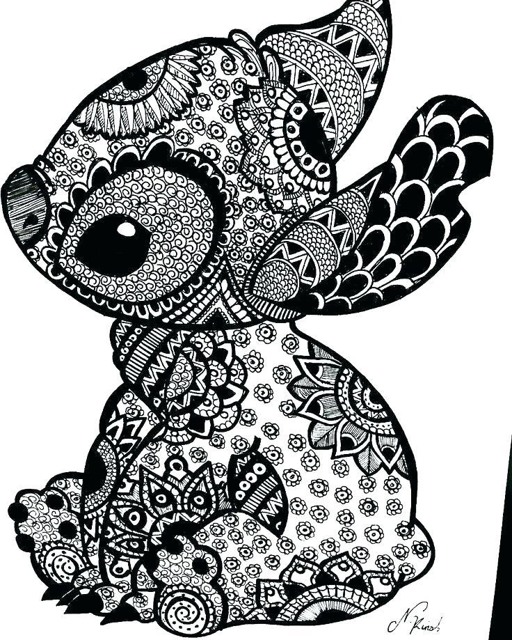 printable coloring page stitch pusat hobi