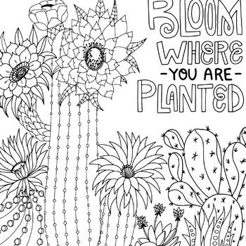 printable coloring pages cactus berbagi ilmu belajar bersama