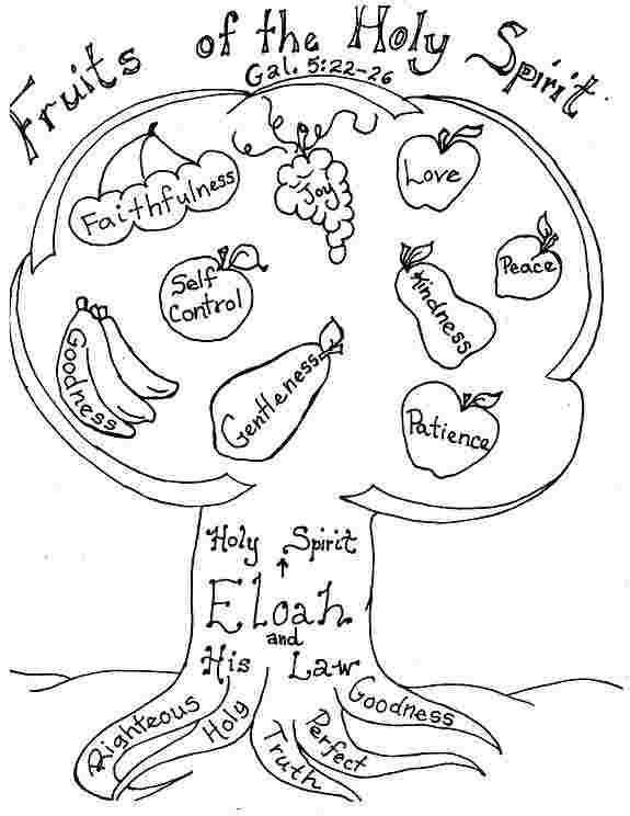 printable coloring pages for the fruit of the spirit fruits